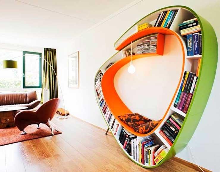 33 ideas para estanter as repisas y libreros s per - Estanterias originales de pared ...