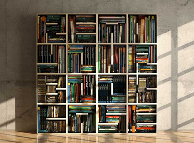 33 ideas para estanter as repisas y libreros s per - Estanteria para libros ...